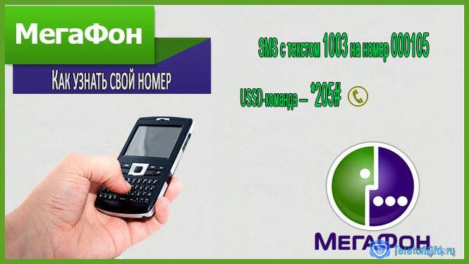 На картинке приведены номера, с помощью которых можно узнать свой номер мегафон.