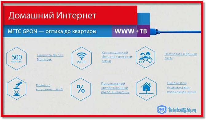 Домашний интернет и ТВ МТС работают по технологии GPON, что позволяет добиться высокого качества и скорости.