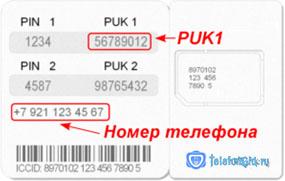 puk-код мегафон