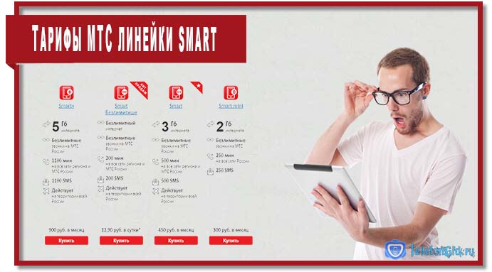 Линейка тарифов  Smart разнообразна и позволяет практически каждому абоненту подобрать оптимальное для себя предложение.