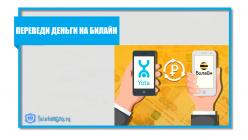 Перевод денег на Билайн