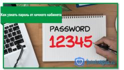 Получение пароля от личного кабинета